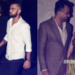 Lovebirds Virat-Anushka Arrive Hand-In-Hand at Zaheer-Sagarika's Engagement Bash | SpotboyE