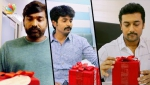 Kootathil Oruvan team surprises celebrities like Surya, Vijay Sethupathi, RJ Balaji | Gift Song