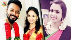 VJ Manimegalai ties knot with her boyfriend SECRETLY | Tamil Anchor Wedding