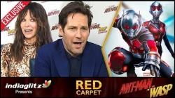 ANT-MAN has Deep EMOTIONAL Connect for Indians : Paul Rudd , Evangeline Lilly Interview | Red Carpet