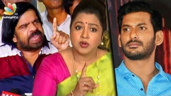 Vishal must resign : Radhika Sarathkumar Angry Speech | T Rajendar, Cheran | Producers Council