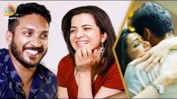 Dhivyadharshini & Sathish about their first love   Interview   Gautham Menon   Ulaviravu Song