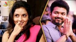 Vijay I'm Waiting : Mahima Nambiar Cute Imitation | Interview | Thalapathy