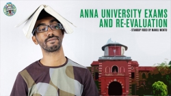 Anna University exams and revaluation! - standup comedy by Manoj Mento