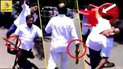 கலவரத்தை தூண்டிய பாஜக : BJP MLA'S Created a fuss During Pondy Protest | MODI | Narayanasamy