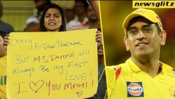 Girl Fan Cute Proposal To Dhoni In Live Match | CSK Vs RR Highlights | IPL 2018