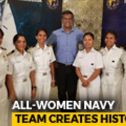 Meet The Navy's All-Women Crew Who Sailed Around The Globe In A Tiny Boat