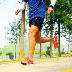 Running marathons back to back and running sideways to keep fit