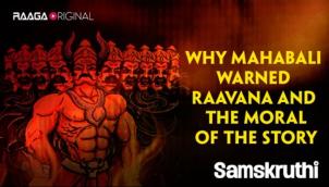 Why Mahabali warned Raavana and the moral of the story