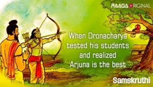 When Dronacharya tested his students and realized Arjuna is the best