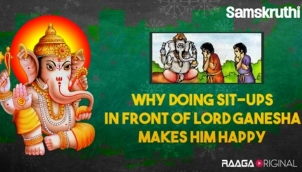 Why doing sit-ups in front of Lord Ganesha makes him happy