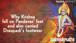 Why Krishna fell on Pandavas' feet and also carried Draupadi's footwear