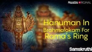 Hanuman In Brahmalokam For Rama's Ring