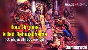 How Arjuna killed Ashwathama not physically but mentally