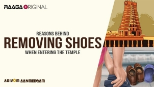 Reasons behind removing shoes when entering the temple