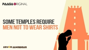 Some temples require men not to wear shirts